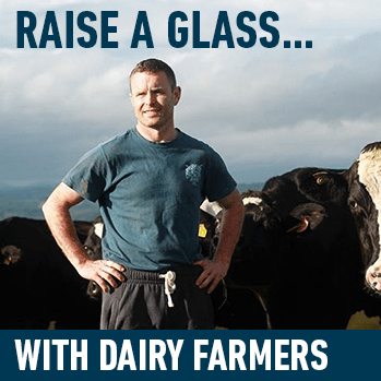 Raise a glass... with dairy farmers