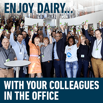 Enjoy Dairy... With your colleagues in the office