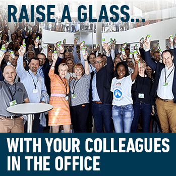 Raise a glass... With your colleagues in the office