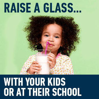 Raise a glass... With your kids or at their school
